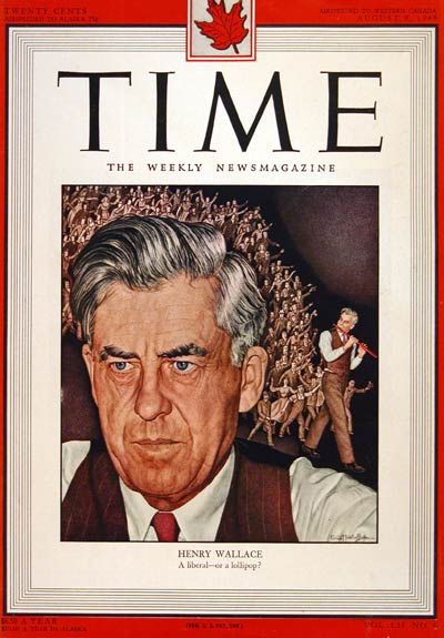 1948 Time Cover Henry Wallace #004346
