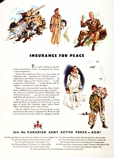 1949 Canadian Army Classic Ad #001581
