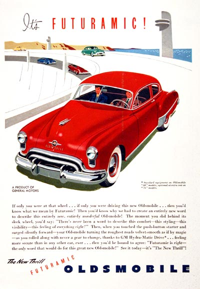 1949 Oldsmobile Coupe Vintage Ad #001561