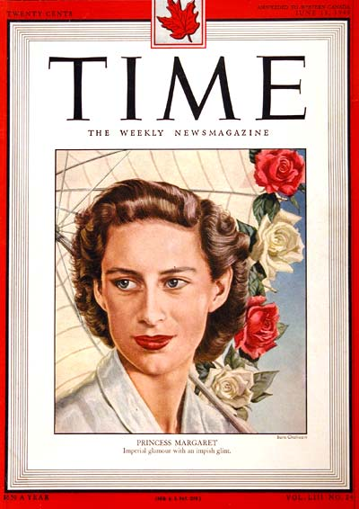 1949 Time Cover - Princess Margaret