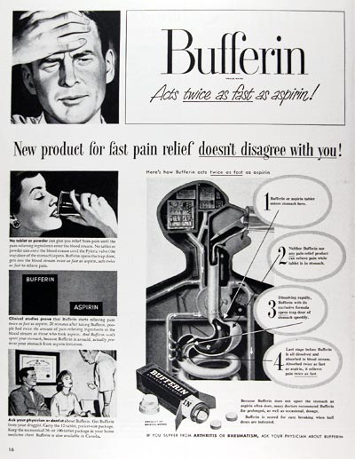 1950 Bufferin Analgesic #024439