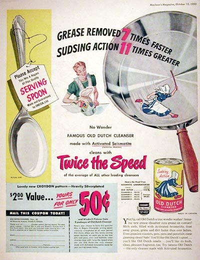 1950 Old Dutch Cleanser #008023