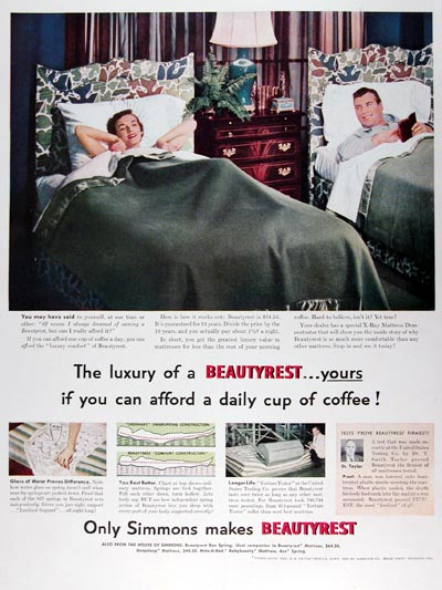 1950 Simmons Beautyrest Mattress #023679