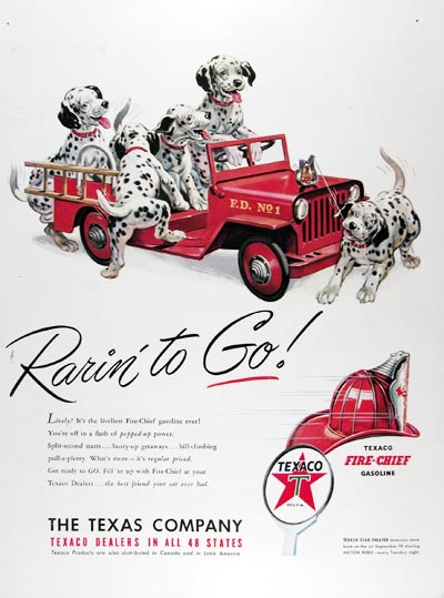 1950 Texaco Fire Chief Gasoline #024448