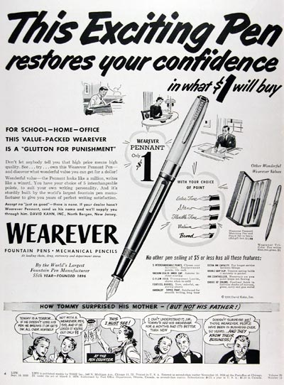 1950 Wearever Pen Pencil #023651