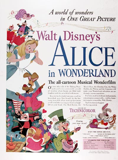 "1951 Disney's ""Alice in Wonderland"" #024468"