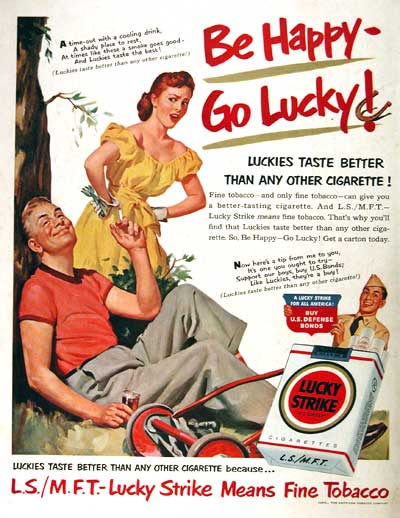 1951 Lucky Strike Vintage Ad #002115