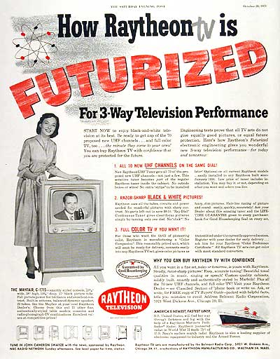 1951 Raytheon TV #003714
