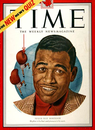 1951 Time Cover - Sugar Ray Robinson #002890