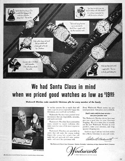 1951 Wadsworth Watch #003397