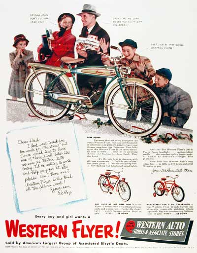 1951 Western Flyer Bicycle #003398