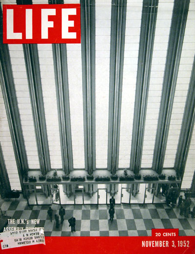 1952 Life Cover - U.N. Building #004062