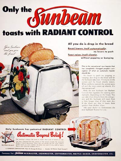 1952 Sunbeam Toaster #004064