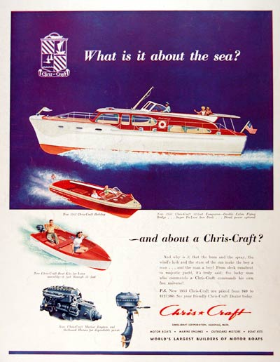 1953 Chris Craft Conqueror #001485