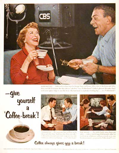 1953 Coffee - Burns & Allen #003460