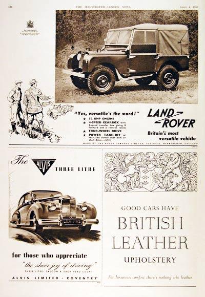 1953 Land Rover 4x4 Versatile Vintage Ad