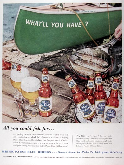 1953 Pabst Blue Ribbon Beer #024612