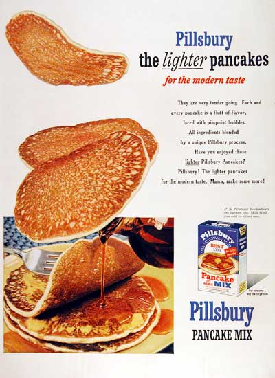 1953 Pillsbury Pancakes #003481