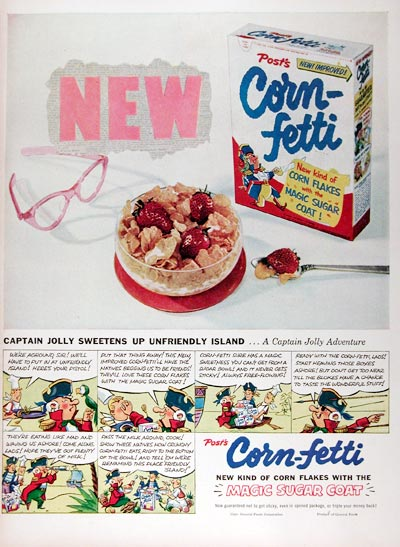 1953 Post Corn-Fetti Cereal #024649