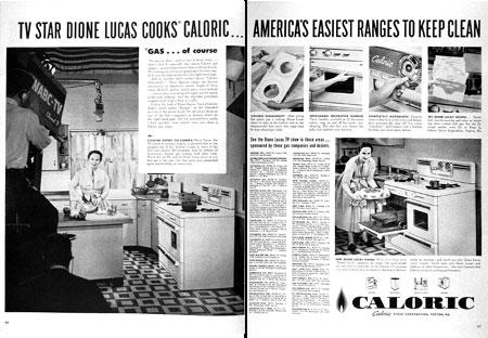 1954 Caloric Stove Range Dione Lucas Vintage Print Ad