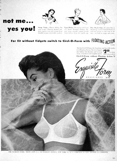 1954 Exquisite Form Bras #003996