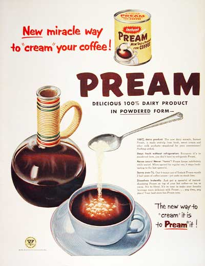 1954 Pream Coffee Cream #004448
