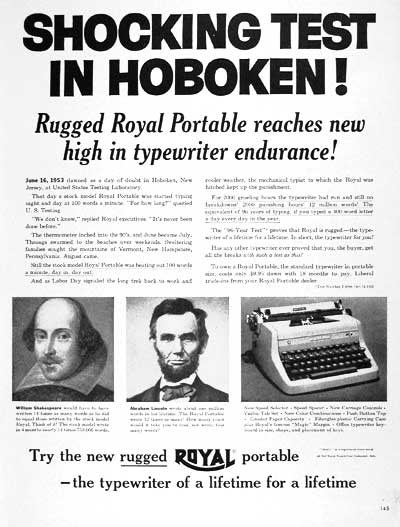 1954 Royal Typewriter #004004