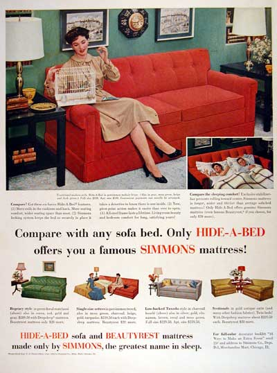 1954 Simmons Hide-a-Bed #004476