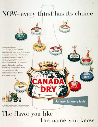1955 Canada Dry #003060