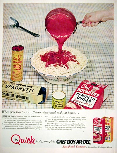 1955 Chef Boy-Ar-Dee Spaghetti Dinner #015912