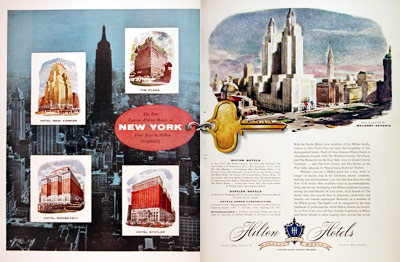 1955 Hilton Hotels New York #006829