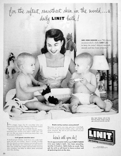 1955 Linit Laundry Starch Classic Vintage Print Ad