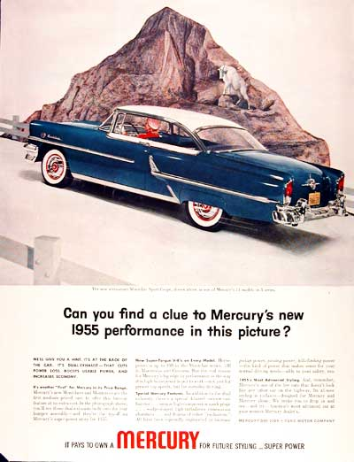 1955 Mercury Montclair Coupe #003799