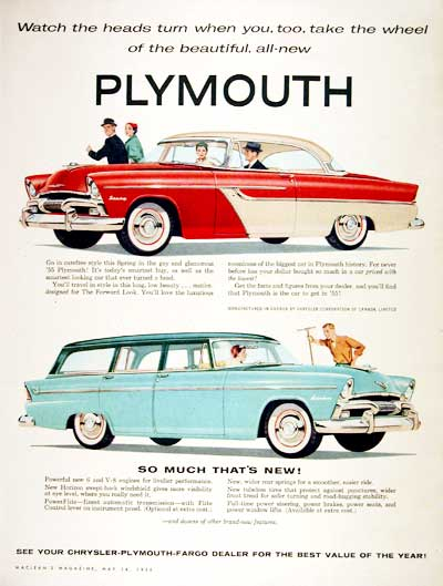 1955 Plymouth Coupe & Wagon #002208