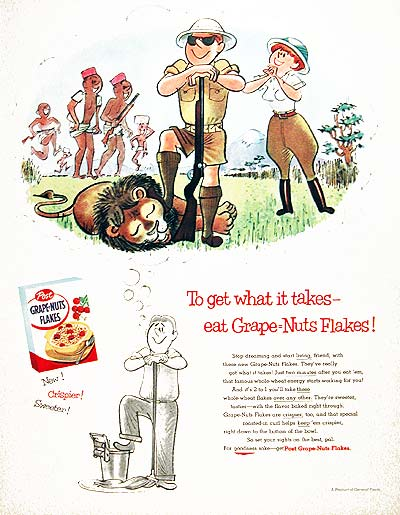 1955 Post Grape Nuts Cereal #004109