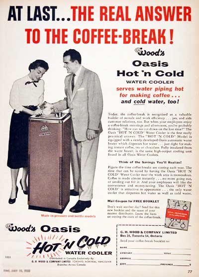 1955 Wood's Water Cooler #002985