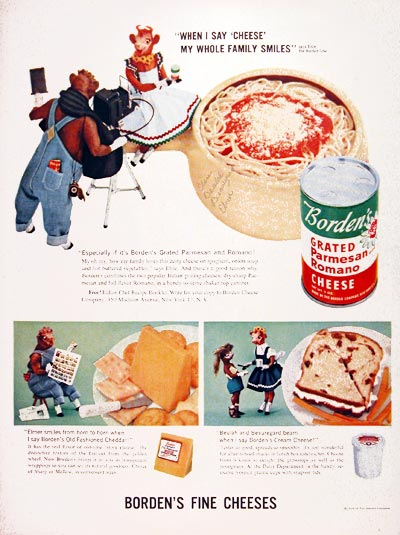 1956 Borden Parmesan Cheese #006960