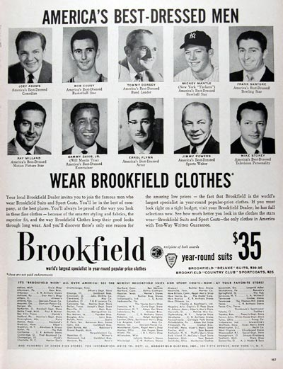 1956 Brookfield's Men's Suits #024731