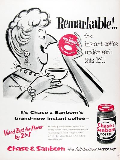 1956 Chase & Sanborn Instant Coffee #009374