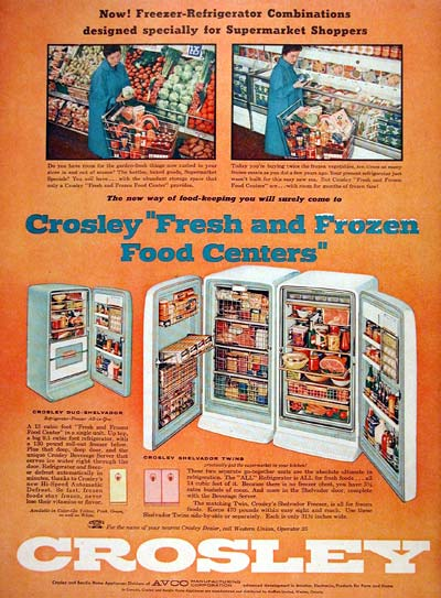 1956 Crosley Fridge Freezer #007569