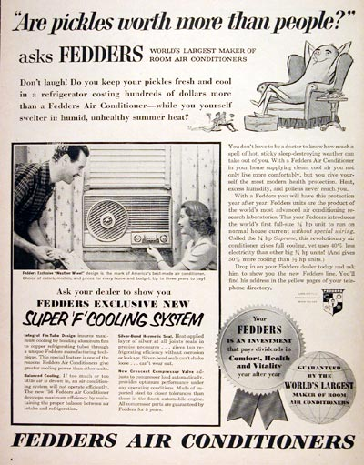 1956 Fedders Air Conditioning #006660
