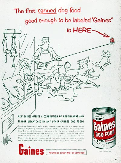1956 Gaines Canned Dog Food #009363