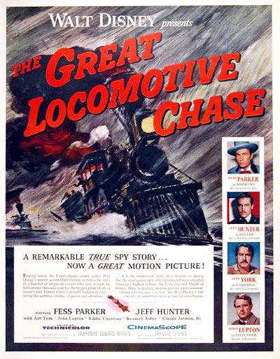 The Great Locomotive Chase (1956) Dvd 56greatlocomotivechasemovie