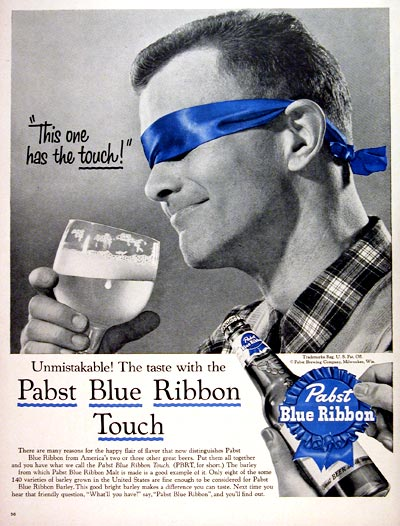 1956 Pabst Blue Ribbon Beer #007533