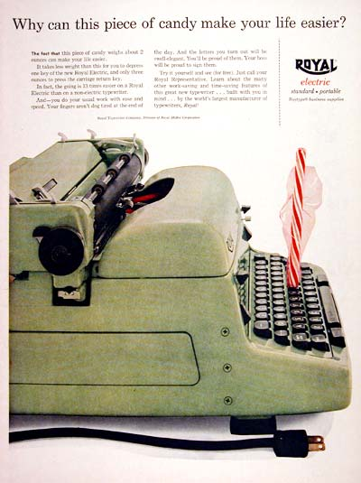 1956 Royal Electric Typewriter #007515