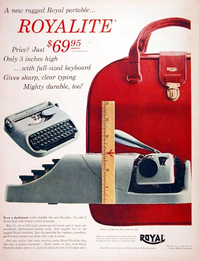1956 Royalite Typewriter #007577