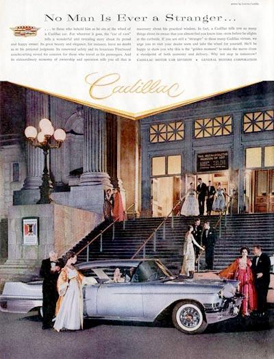 1957 Cadillac Sedan Met Art Museum Vintage Ad