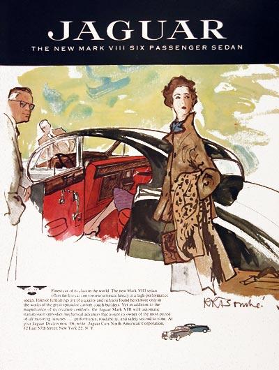 1957 Jaguar Mark VIII Sedan Classic Vintage Print Ad