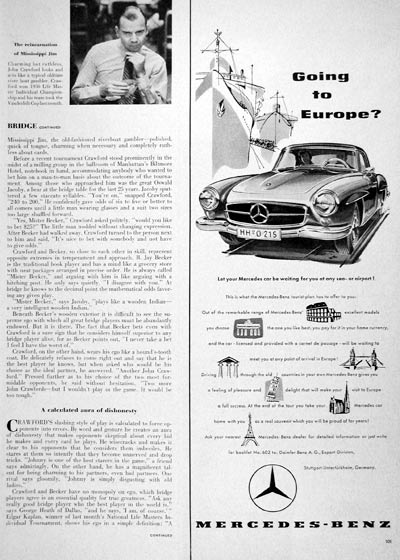 1957 Mercedes Tourist Package #006861