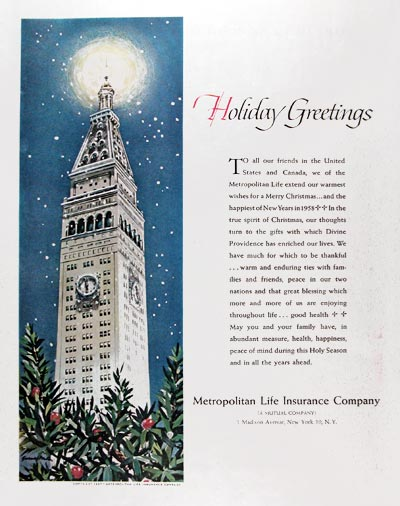 1957 Met Life Christmas Greetings #014642
